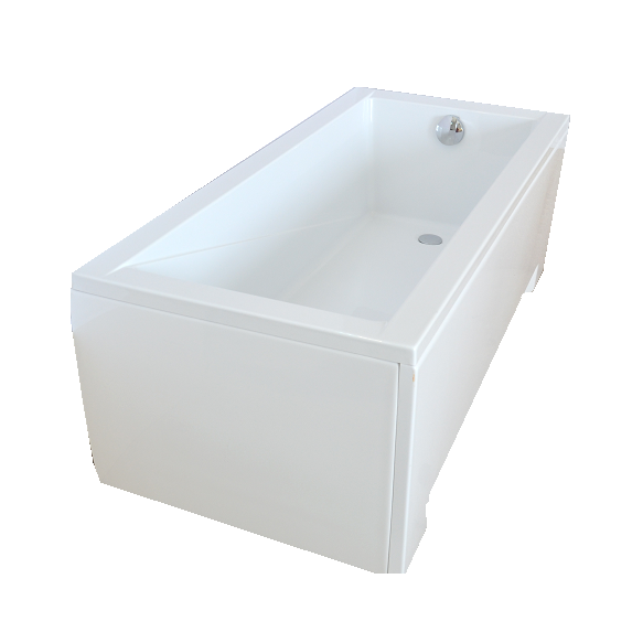"bathtub 130x70 cm ""MODENA"", incl drain and long side panel"