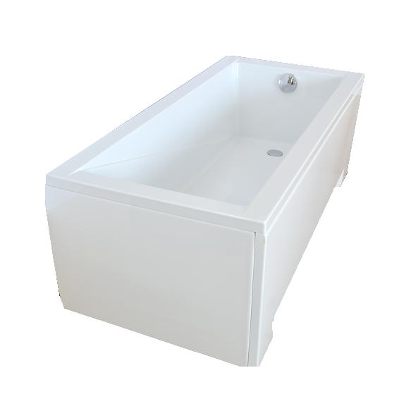 "bathtub 130x70 cm ""MODENA"", incl drain and long side panel"
