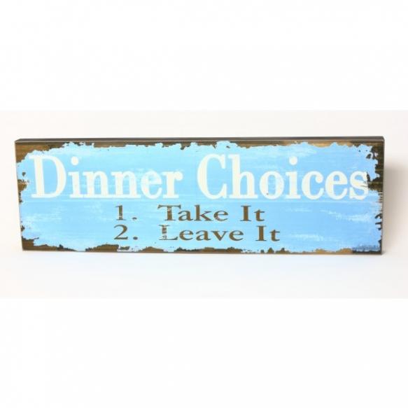 WOOD SIGN DINNER CHOICES