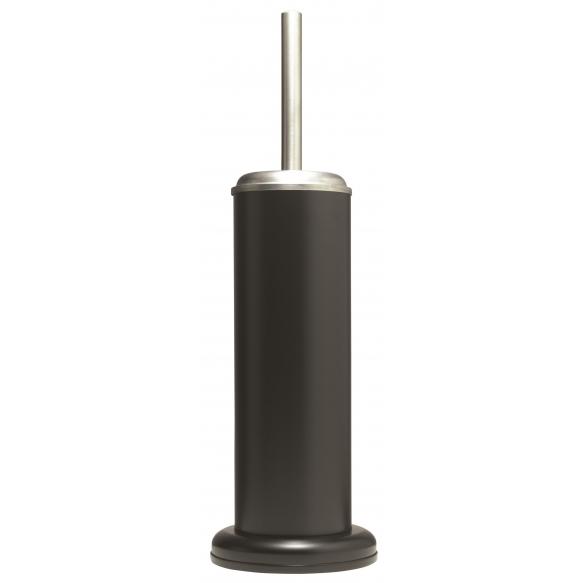 ACERO metal  toilet brush and holder, black