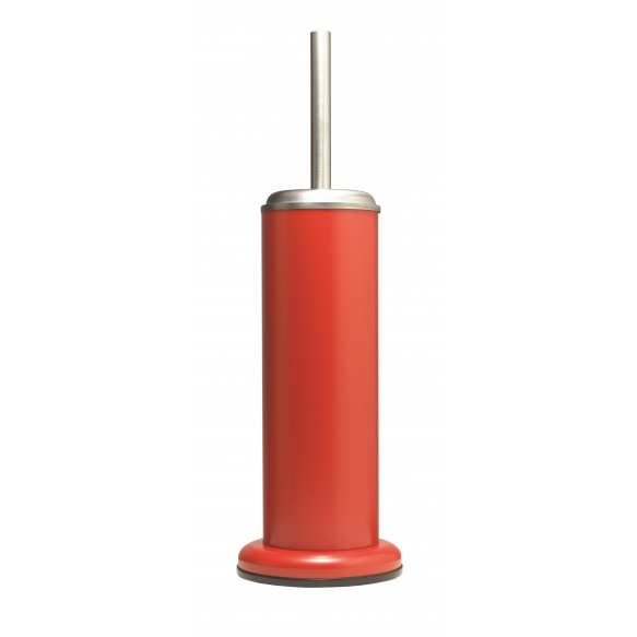 ACERO metal  toilet brush and holder, red