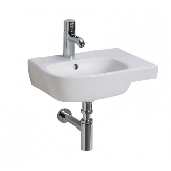 STYLE washbasin asym.45 cm with t/h whit