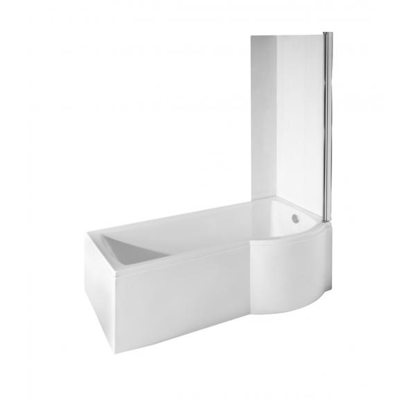 INSPIRA 150x70,left corner+ long panel +integrated shower screen