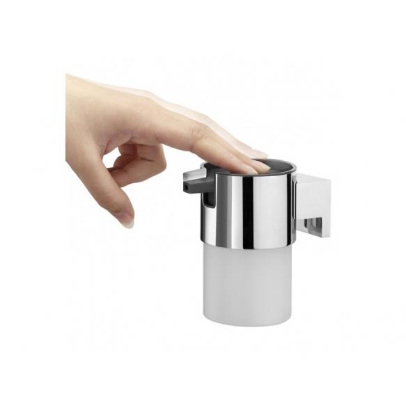 BOLD soap dispencer, chrome,, no screw assembling