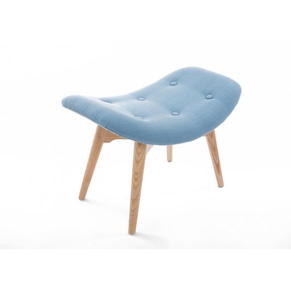 pouf Burg, blue fabric
