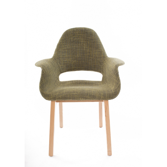 armchair Arne II, fabric 330-12, natural wood feet
