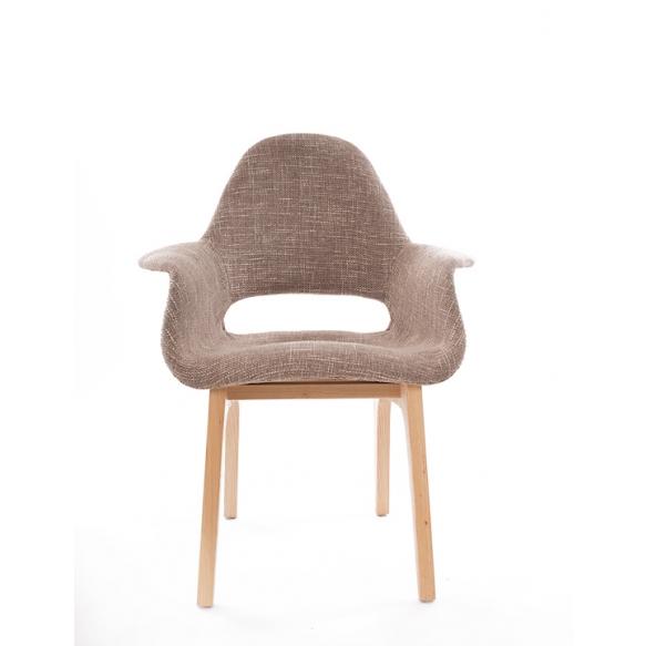 armchair Arne II, fabric 330-1, natural wood feet