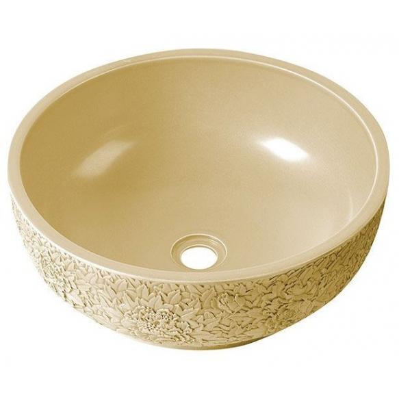 PRIORI ceramic basin diameter 43cm, ceramic, ivory color