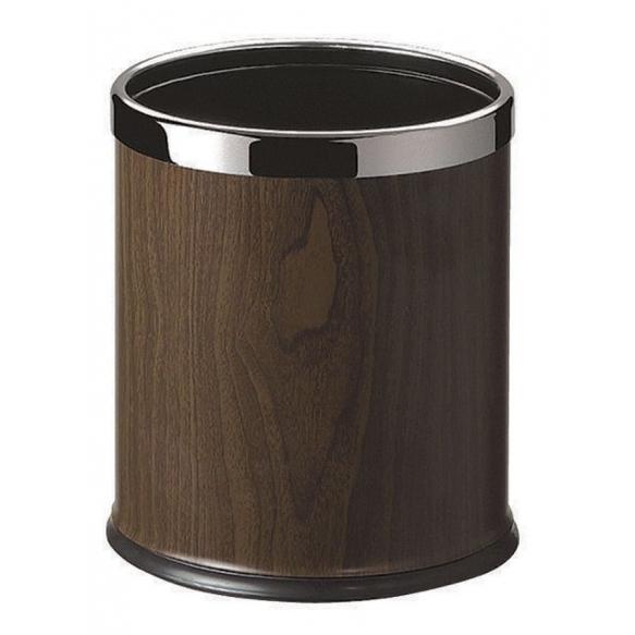 ROOM dust bin, polished stainless steel / nut