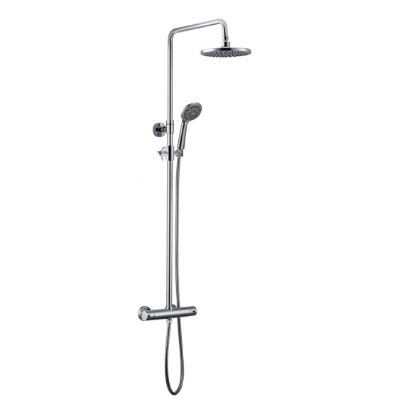 KIMURA Shower column with thermostatic mixer, chrome