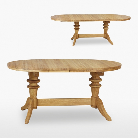 Round extending table 2 leaves
