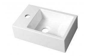 cast marble basin Alabama, 36x23 cm, faucet on left