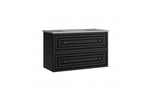 Kayra Basin Cabinet with drawers 100 cm, anthracite + basin SU100