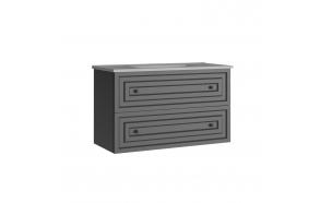 Kayra Basin Cabinet with drawers 100 cm, gray + basin SU100
