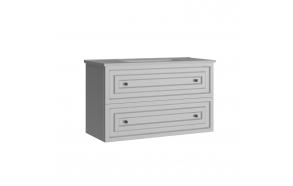 Kayra Basin Cabinet with drawers 100 cm, white + basin SU100