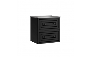 Kayra Basin Cabinet with drawers 60 cm, anthracite + basin SU060