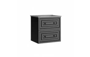 Kayra Basin Cabinet with drawers 60 cm, gray + basin SU060