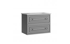 Kayra Basin Cabinet with drawers 80 cm, gray + basin SU080
