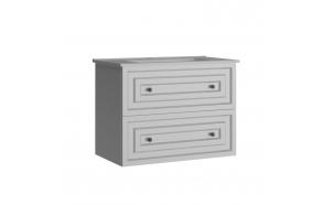 Kayra Basin Cabinet with drawers 80 cm, white + basin SU080