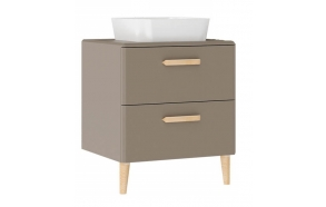 Patara Basin Cabinet with drawers 60 cm, cappuccino + basin LP140 or LP040