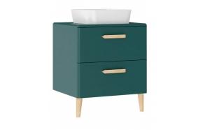 Patara Basin Cabinet with drawers 60 cm, green + basin