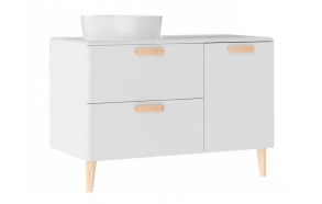 Patara Basin Cabinet with drawers 100 cm, white + basin LP140 or LP040