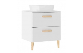 Patara Basin Cabinet with drawers 60 cm, white + basin LP140 or LP040