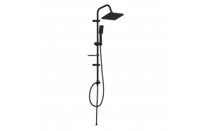 Rain Shower Set Creavit, mat black, top shower 17x25 cm