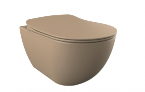 rimless seina wc Free,matt cappucino, ilma istmeta