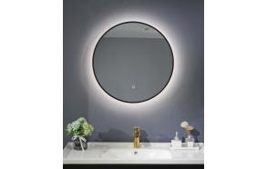 LED mirror Cherry diam 60 cm, mat black