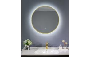 LED mirror Cherry diam 60 cm, mat gold