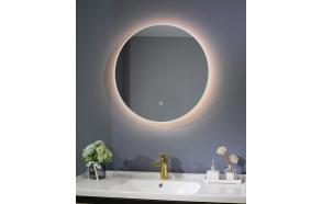 LED mirror Cherry diam 60 cm, mat white