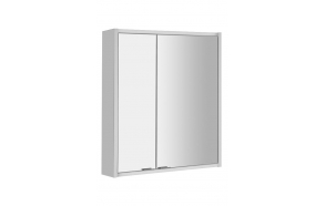 BATU Mirror Cabinet, 2x LED lighting, 60x71x15cm, white