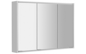 BATU Mirror Cabinet, 2x LED lighting, 100x71x15cm, white