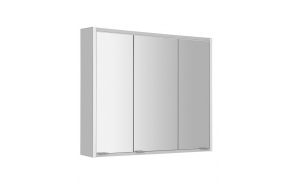 BATU Mirror Cabinet, 2x LED lighting, 80x71x15cm, white