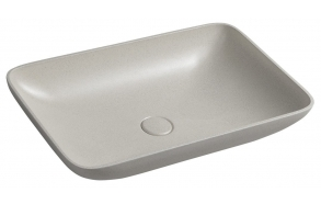 INFRANE concrete washbasin including waste, 57x37 cm, beige