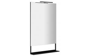 ERUPTA Mirror with MDF shelf and LED lighting 60x95x12cm, matt black
