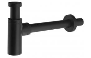 Washbasin Waste Trap 5/4' dia 32mm, round/mat black