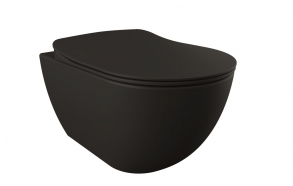 wall hung toilet Free, mat black, without seat