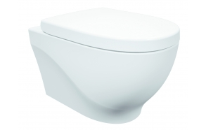 rimfree wall hung toilet Mare white, without seat