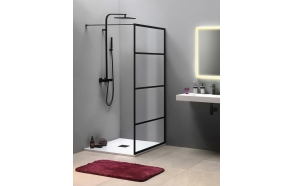 CURE BLACK Shower Enclosure 1000 mm, black matt