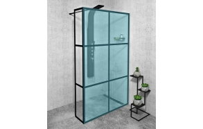 CURE BLACK Shower Enclosure 350 mm, black matt