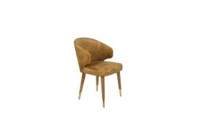 Chair Lunar Velvet Ochre FR