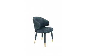 Chair Lunar Velvet Petrol FR