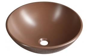 FORMIGO concrete washbasin, diameter 41 cm, brick