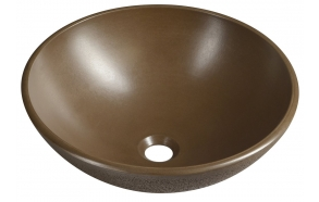 FORMIGO concrete washbasin, diameter 41 cm, dark brown