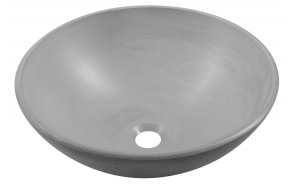 FORMIGO concrete washbasin, diameter 41 cm, grey