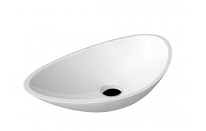 ROSSETA Cultured Marble Washbasin 56,4x32,3cm, white