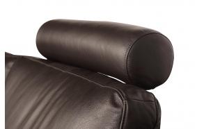 headrest Lugo, dark brown leather Luxor