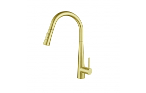 """Touch free"" kitchen mixer Cherry, brushed gold"